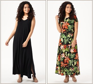 Women With Control Attitudes by Renee Petite Como Jersey Set of 2 Maxi Dresses