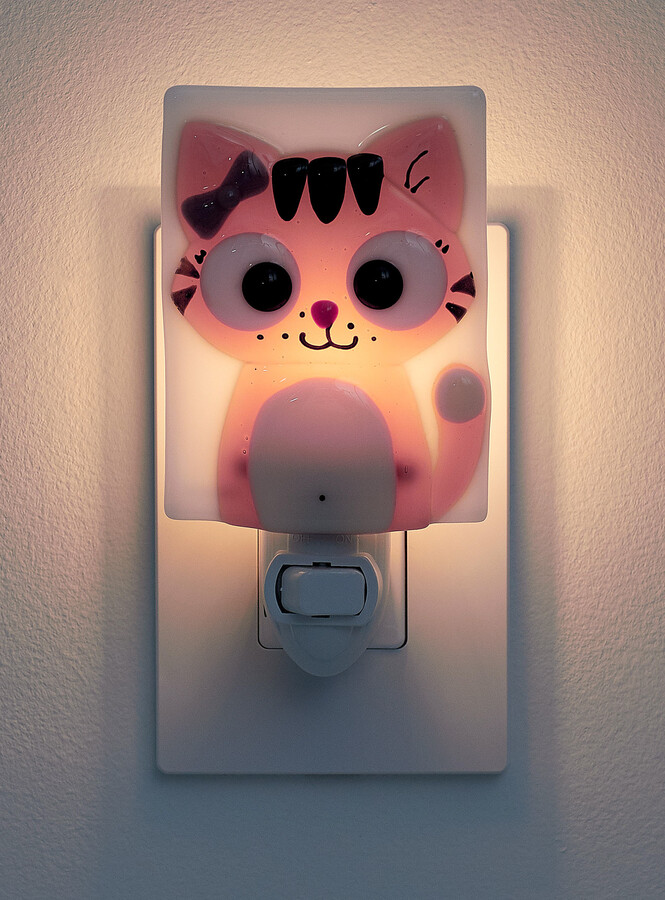 Thumbnail for your product : Veille sur toi - Charlotte the cat nightlight (Fabrique, Pink, ONE SIZE)
