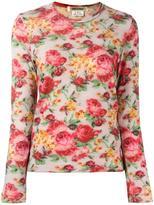Comme des Garcons floral print top - women - Wool - XS