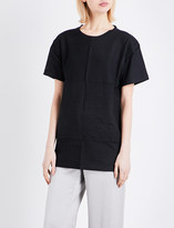 Area Textured cotton-jersey t-shirt