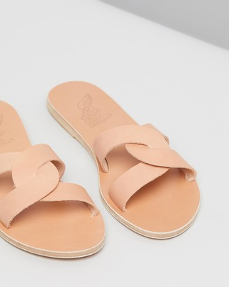 Ancient Greek Sandals Women's Brown Flat Sandals - Desmos - Size 38 at The Iconic
