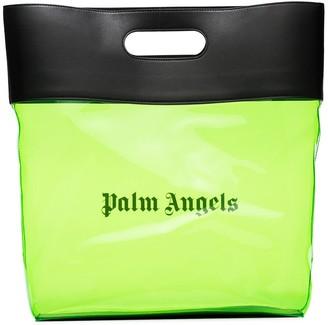 Palm Angels logo-print transparent tote