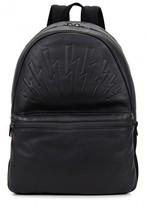 Neil Barrett Black Lightning Bolt Leather Backpack