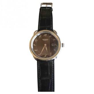 Hermes Arceau Brown Steel Watches