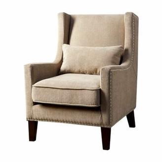 Raymundo Wingback Chair Red Barrel Studio Upholstery: Ivory