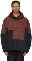 Nike Black and Red Fleece ACG Anorak Jacket