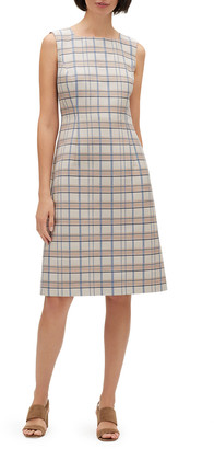 Lafayette 148 New York Jojo Filmore Plaid Sleeveless Jacquard Dress