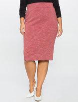 ELOQUII Plus Size Striped Scuba Pencil Skirt