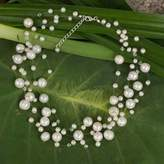 Bridal Pearl Necklace, 'Ivory Fishnet'
