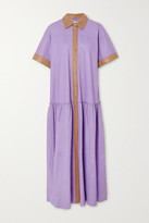 Stand Studio - Lauren Two-tone Leather Dress - Lilac