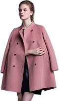 Icegrey Women's Solid Double Breasted Cashmere Wool Coat M