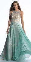 Dave and Johnny Jewel Encrusted Taffeta Prom Gown