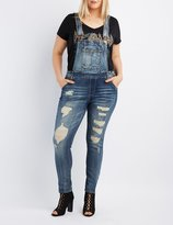 Charlotte Russe Plus Size Dollhouse Destroyed Overalls