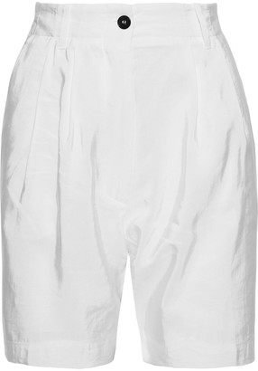 Forte Forte Pleated Shantung Shorts