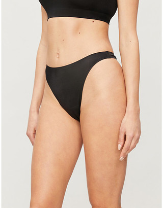 We Are HAH High End high-rise stretch-jersey thong