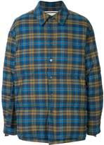 Wooyoungmi padded check shirt jacket