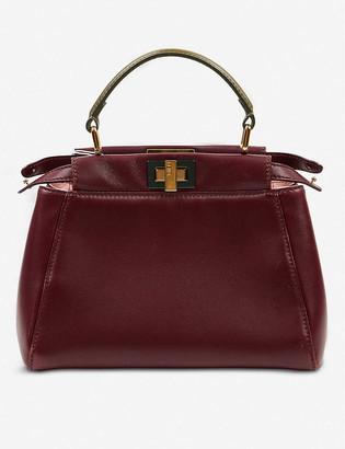 Vestiaire Collective Pre-Loved Fendi Peekaboo leather handbag