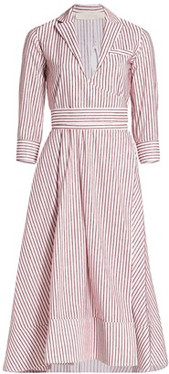 By Any Other Name Belted Midi Wrap Dress