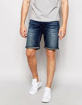 Selected Homme Mid Wash Denim Shorts
