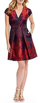 Vince Camuto Paint Splash Fit And Flare Dress