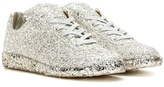 Maison Margiela Glittered-leather sneakers