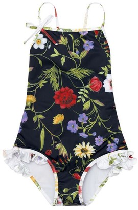 Oscar de la Renta Botanical One-Piece Swimsuit