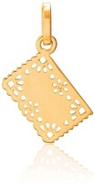 Tane Exquisitely Detailed Perforated Paper Charm In 18K Gold