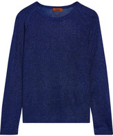 metallic blue sweater - ShopStyle
