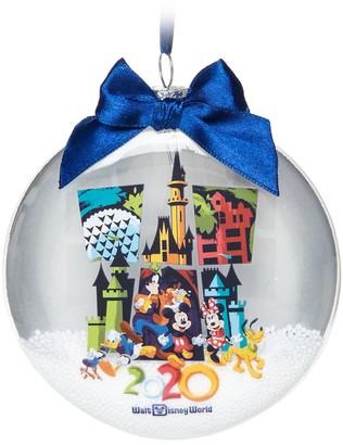 Disney Mickey Mouse and Friends Glass Disk Snowglobe Ornament Walt World 2020