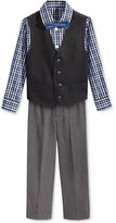 Nautica Little Boys' 3-Pc. Pique Vest, Shirt & Pants Set