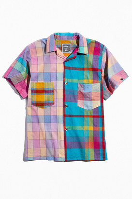 Urban Outfitters Vintage Pentimento Upcycled Madras Short Sleeve Button-Down Shirt