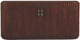 Ralph Lauren Home Art Deco Dining Cabinet - Penthouse Rosewood/Nickel