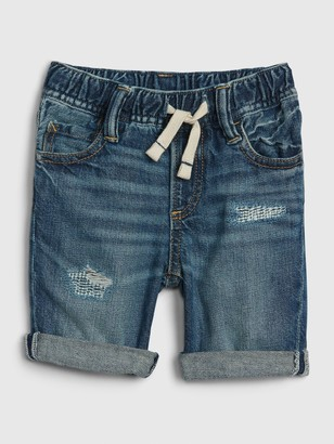 Gap Toddler Pull-On Distressed Denim Shorts