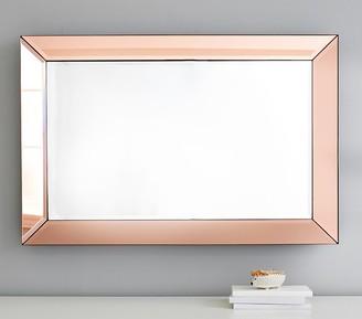 Pottery Barn Kids Blush Beveled Glass Rectangle Mirror