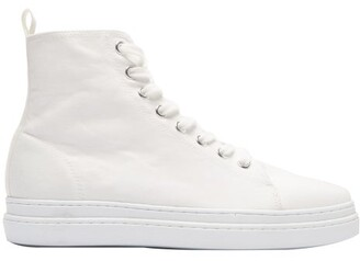 Junya Watanabe Pointed Toe Lace-up High-top Trainers - White