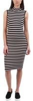 ATM Anthony Thomas Melillo Women's Striped Rib-Knit Dress