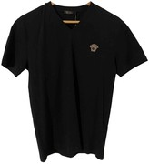 Versace Black Cotton T-shirts