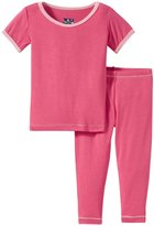 Kickee Pants Pajama Set (Baby) - Winter Rose/Lotus - 6-12 Months
