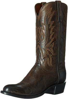 Lucchese Bootmaker Men's Cole-ch Burn Md Goat Riding Boot Chocolate Formula 11.5 D US