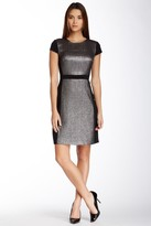 Muse M2653M Metallic Quilt Short Dress