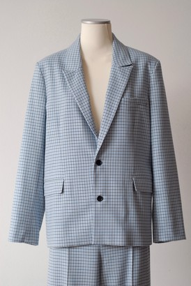 Mads Norgaard Dogtooth Tech Jacket Blue Check - S . | blue - Blue/Blue