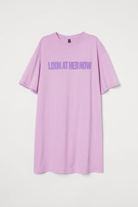 H&M T-shirt Dress - Purple