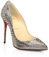 Christian Louboutin Pigalle Follies 100 Metallic Leather d'Orsay Pumps