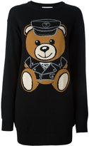 Moschino biker teddy sweater dress