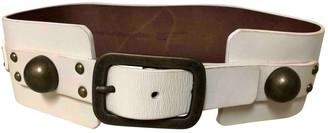 Diane von Furstenberg White Leather Belts