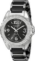 Akribos XXIV Women's AK514BK Ceramic Crystal Bracelet Watch