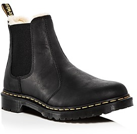 Dr. Martens Women's Leonore Leather Chelsea Booties