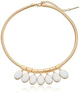 "T Tahari Marina Club"" White and Gold Snake Chain Necklace, 18''+3'' Extender"