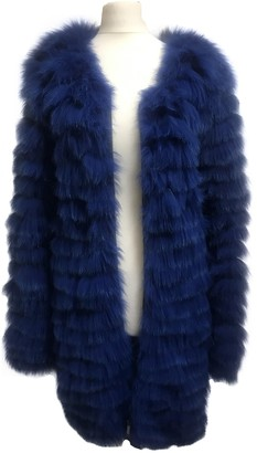 Matthew Williamson Blue Fox Jacket for Women