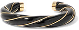 Aurelie Bidermann Diana Gold-plated Resin Cuff - Black
